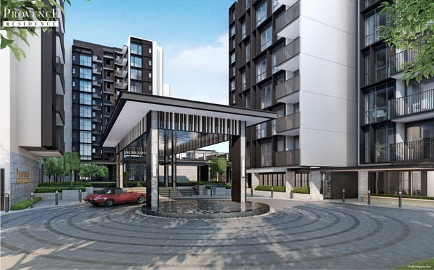 Artist's Impression of the entrance to Provence Residence EC at Canberra Link
