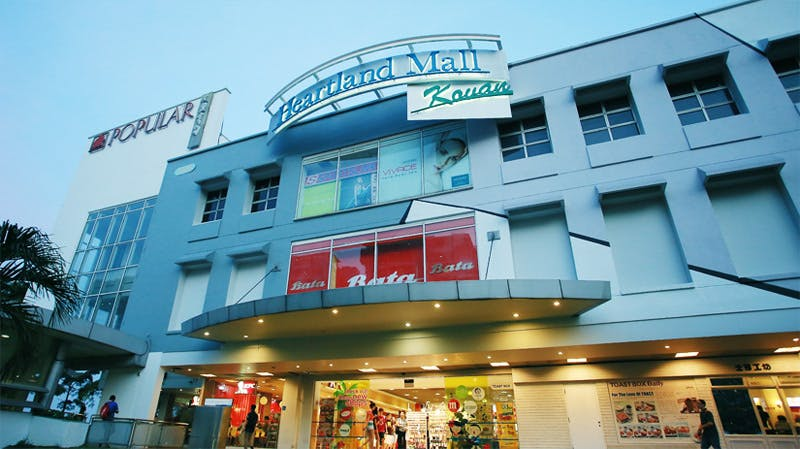 Heartland mall is a stone's throw away from Kovan MRT.