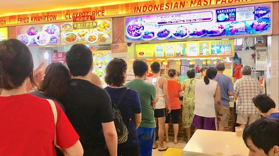The queues at Dju Dju Indonesian Nasi Padang