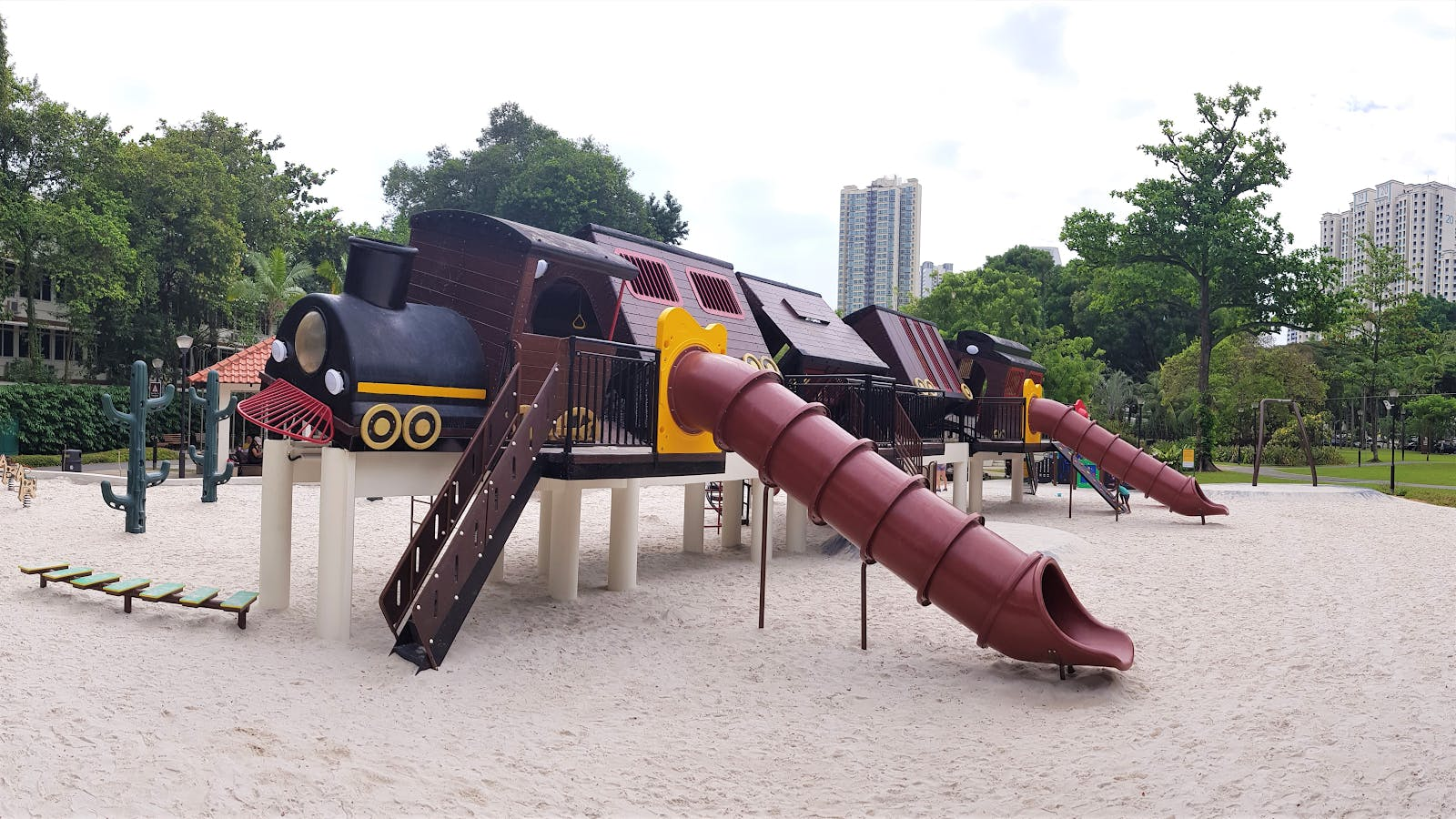 Train playground at Tiong Bahru Park