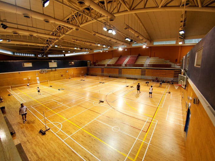 People playing Badminton at Bukit Gombak Sports Hall
