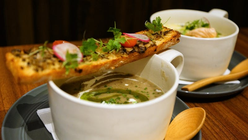 A bowl of soup at Lighthouse bistro