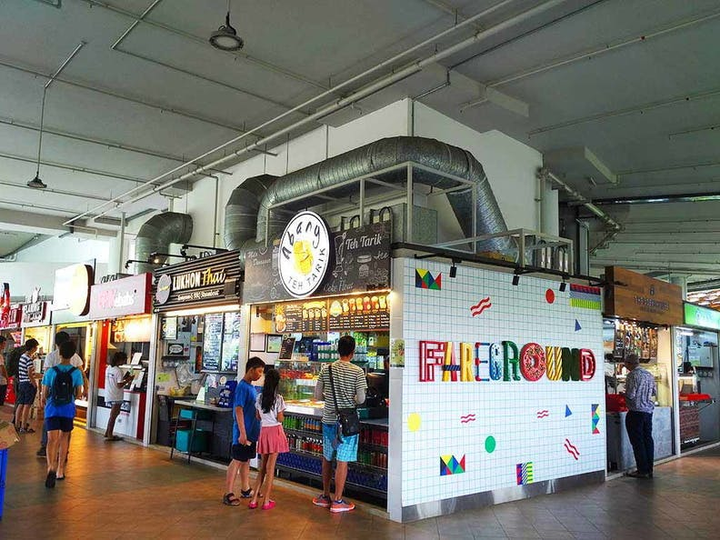 Diners at Pasir Ris Central Hawker Centre
