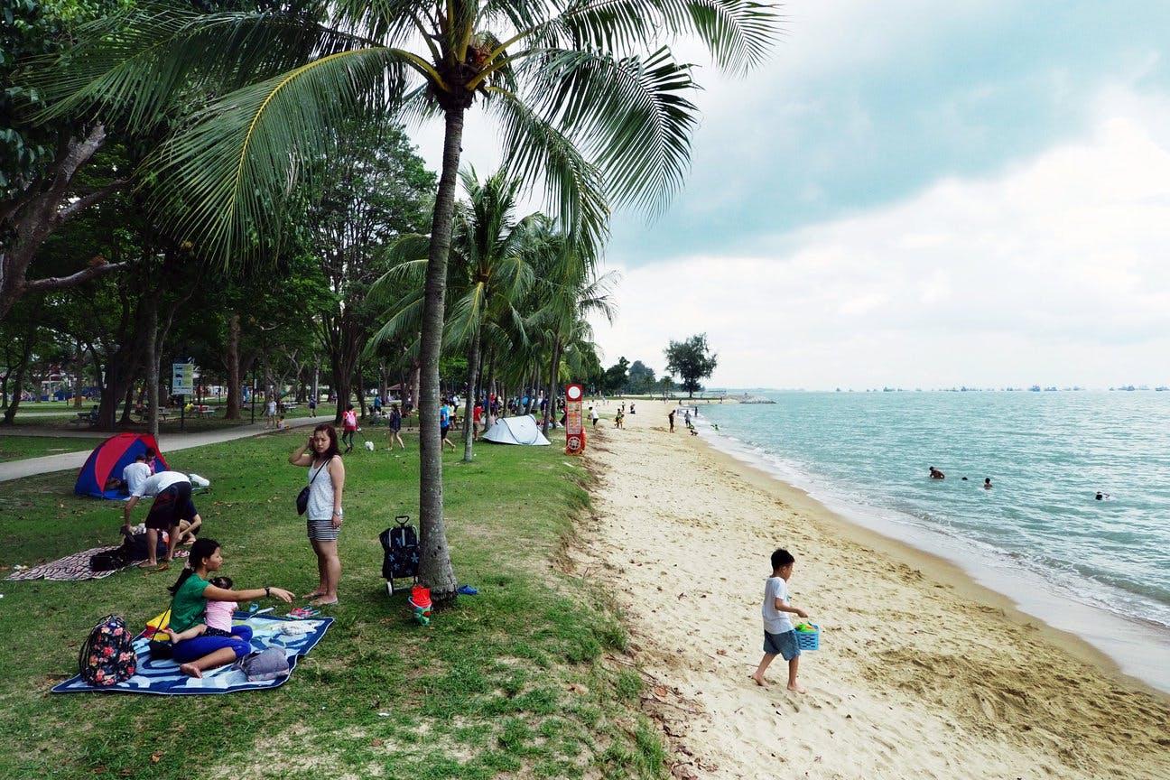 People having picnics at East Coast Beach