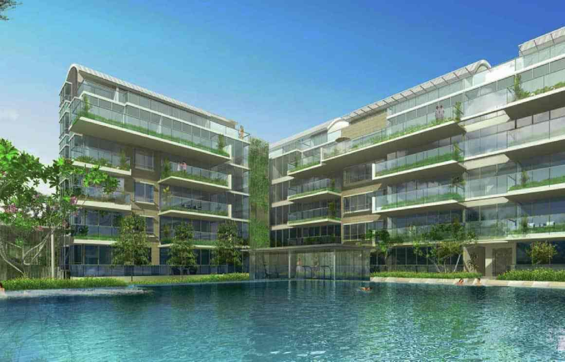 Ola Residences with an overlooking pool is a freehold condominium in Mountbatten.