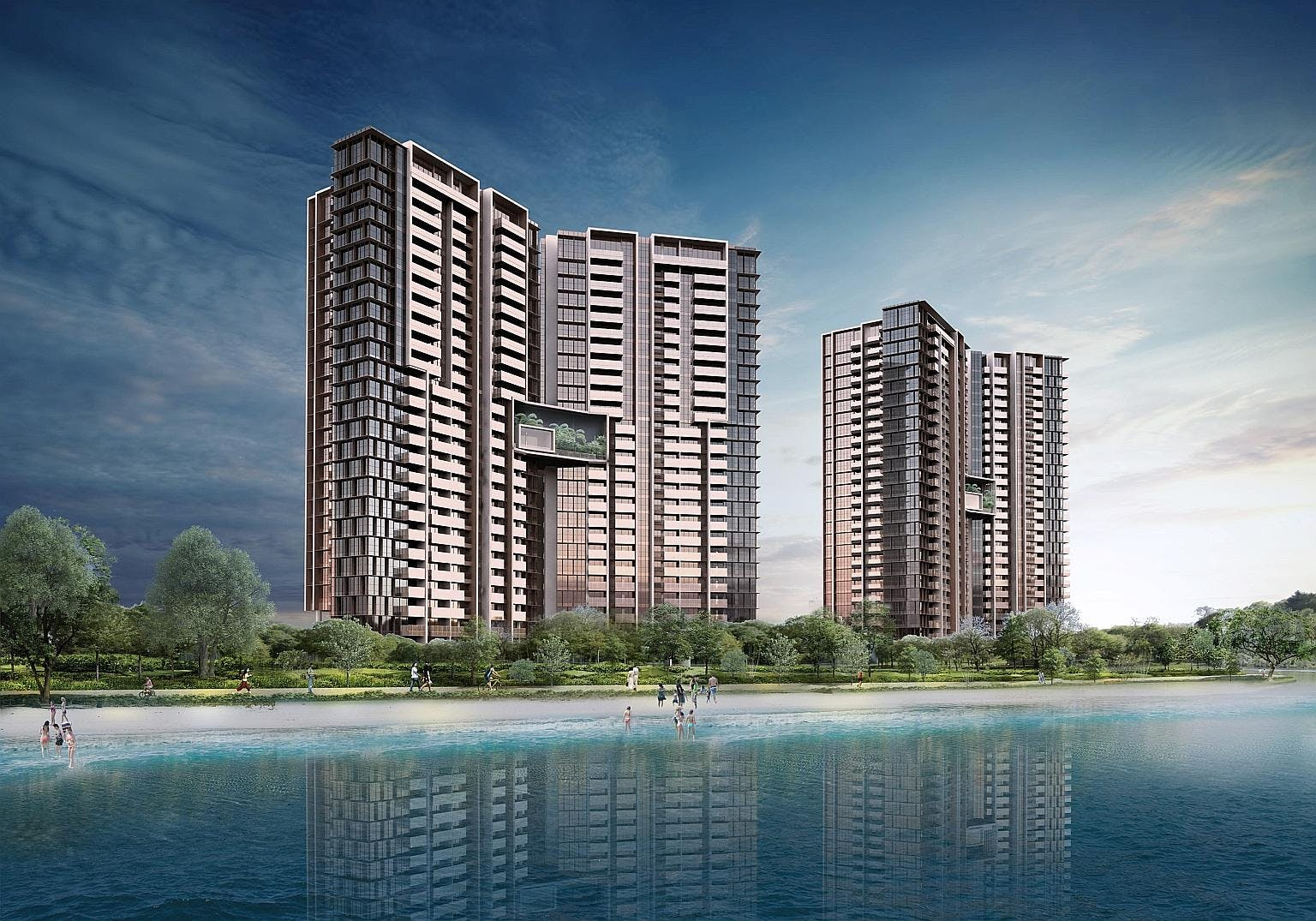 A view from the sea: Seaside Residences