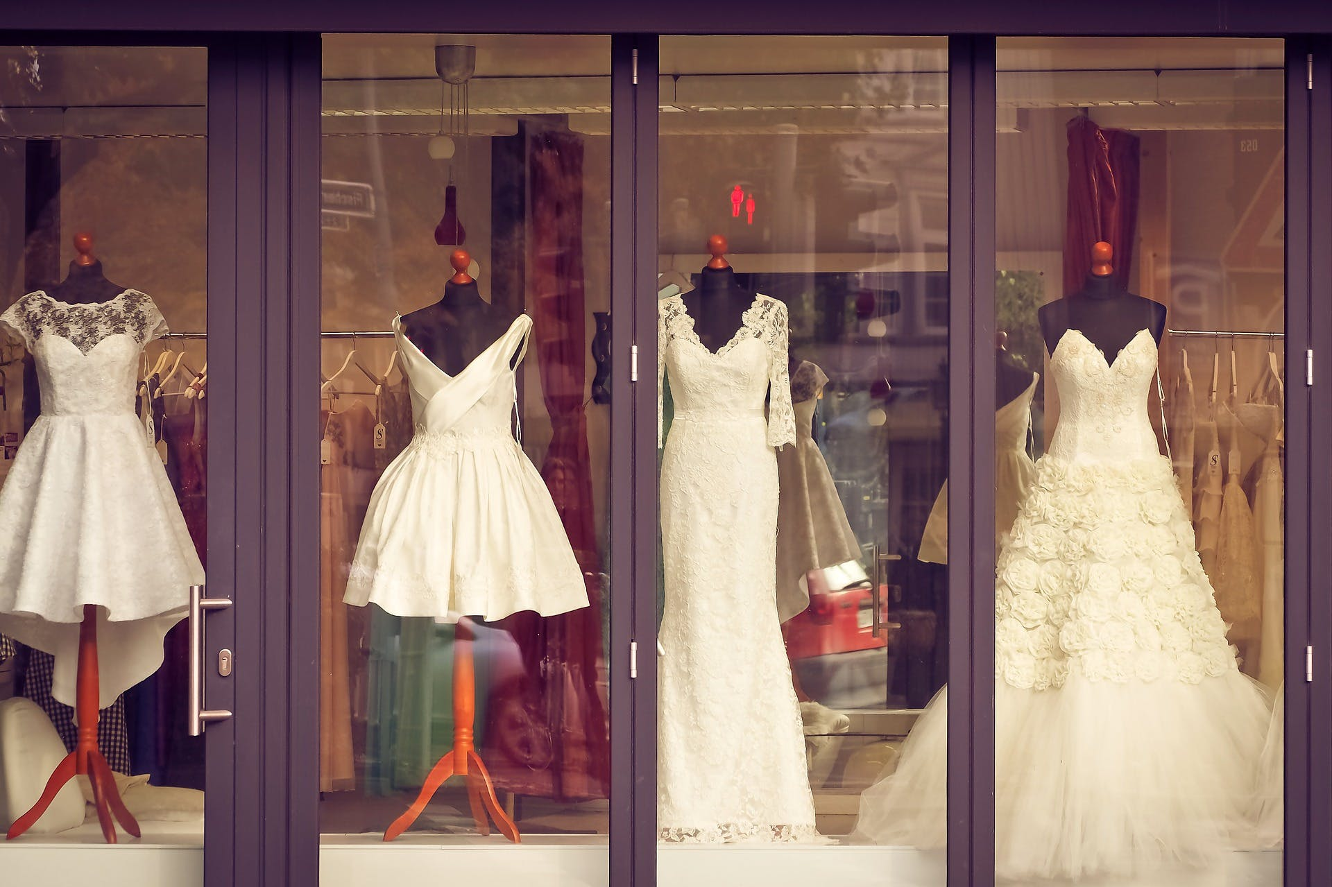 One of many wedding gown boutiques housed in colonial shophouses in the Tanjong Pagar Neighbourhood