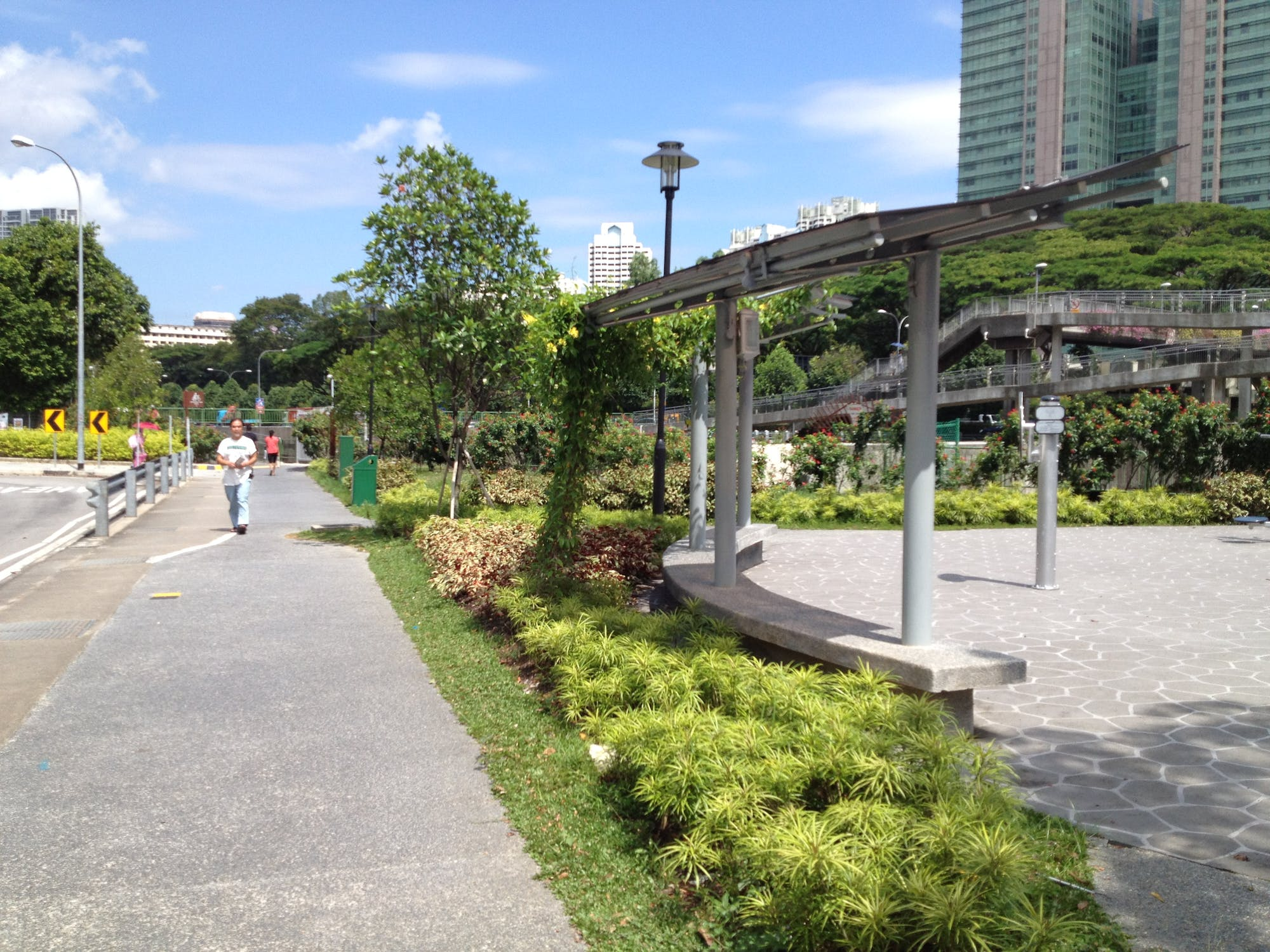 Jogging at the Whampoa Park Connector