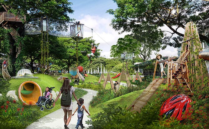 An artist's impression of the Istana Park, which is getting a revamp soon