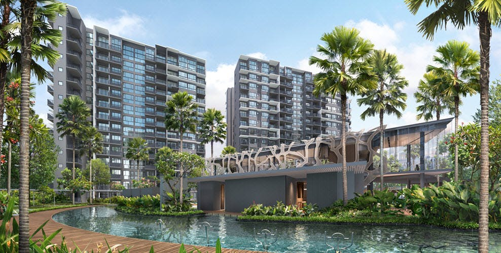 Let the beautiful greenery and relaxing atmosphere of the pool soak into your pores at Grandeur Park Residences,
