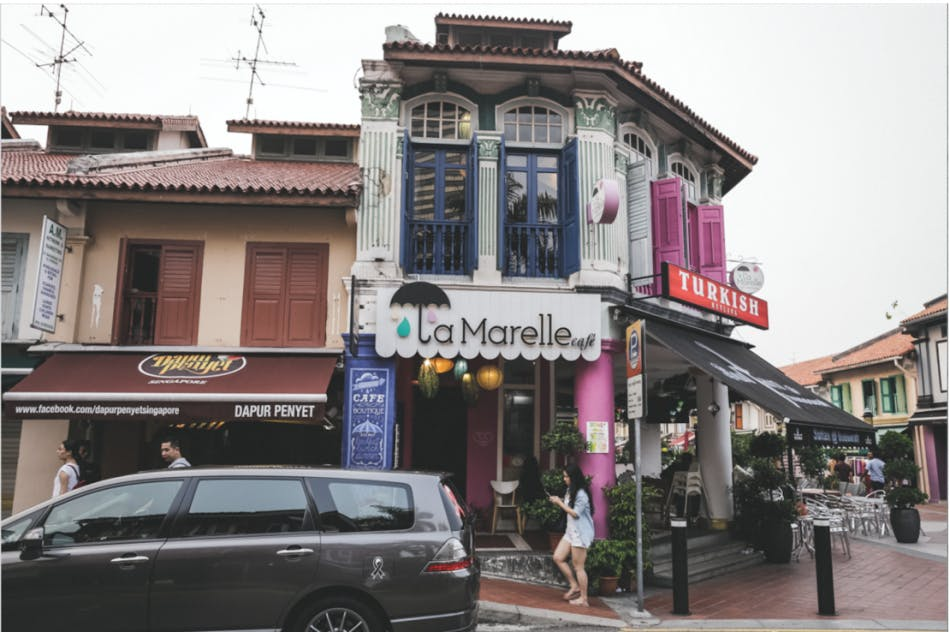La Marelle Boutique Cafe located on Baghdad Street near Kampong Glam
