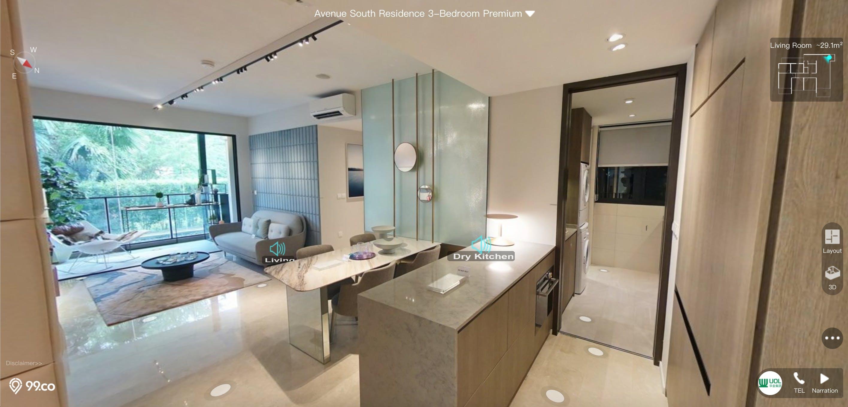 Avenue South Residence 3 Bedroom Premium