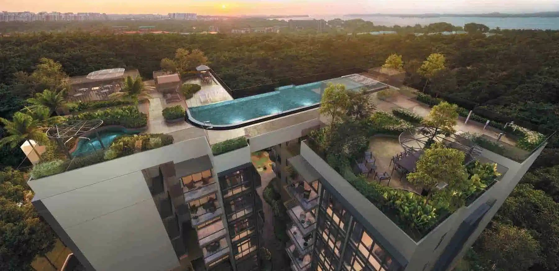 Casa Al Mare in the day, is almost on the cusp of Pasir Ris Beach and Pasir Ris Park.