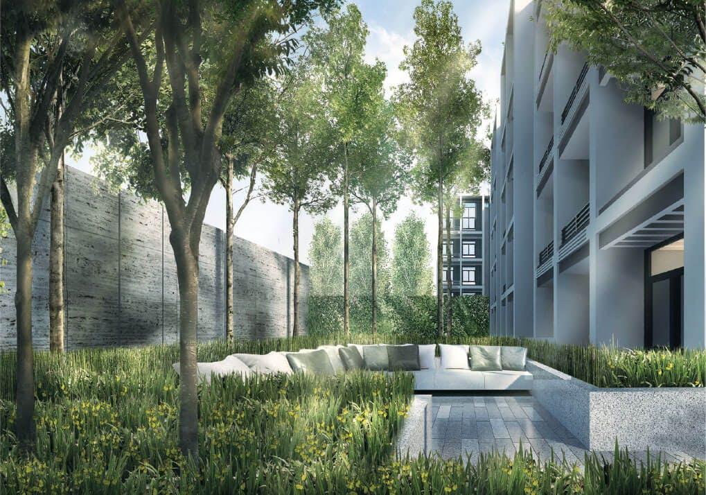 Sixteen 35 Residences condo garden