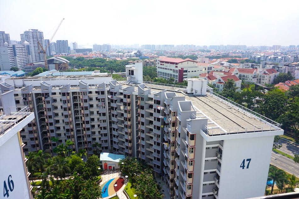 HDBs in the Marine Parade area.