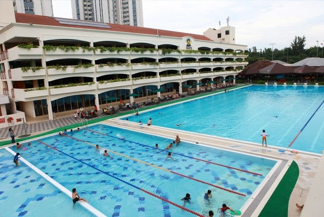 Esape the summer heat at the Singapore Swimming Club