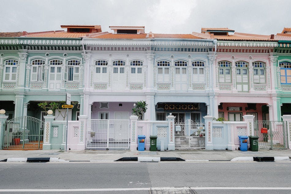 Rows of shophouses line the streets of Marine Parade.