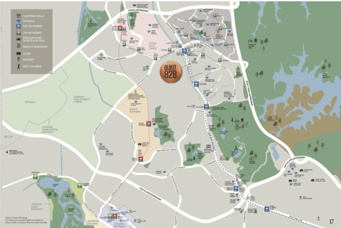 Bukit 828 and the surrounding green recreation areas