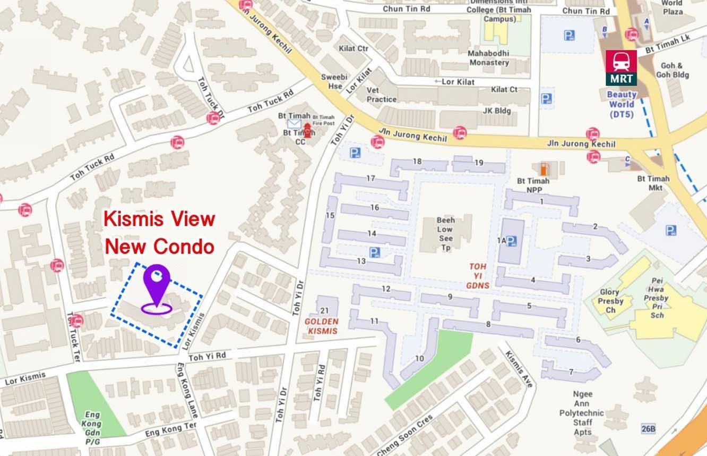 Map of View at Kismis