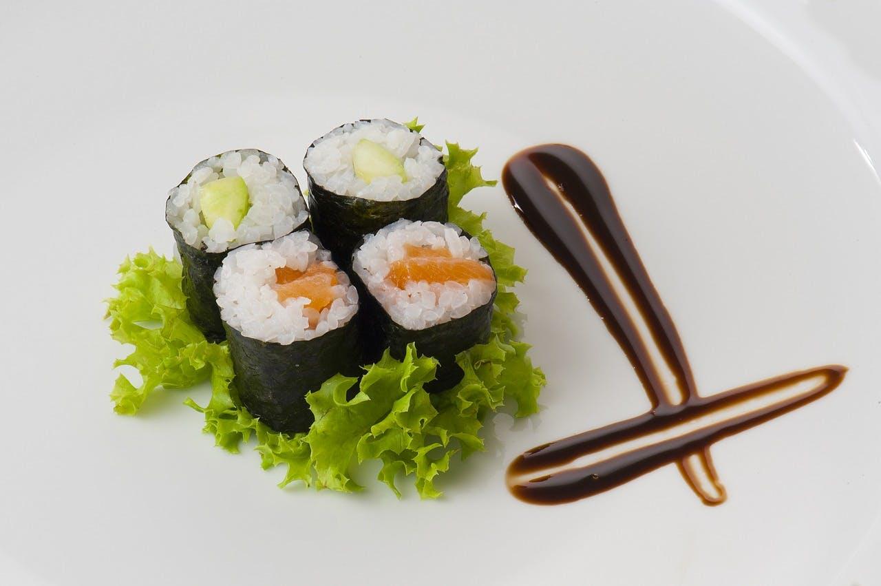 Beautifully plated sushi
