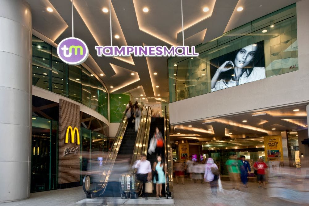 Tampines Mall, just a 10 minute drive away from The Tapestry