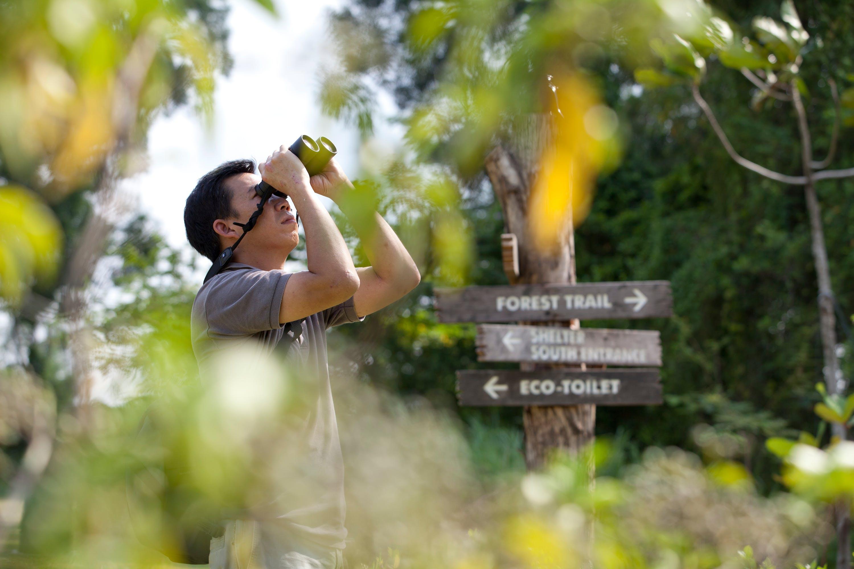 Enjoying nature at Tampines Eco Green