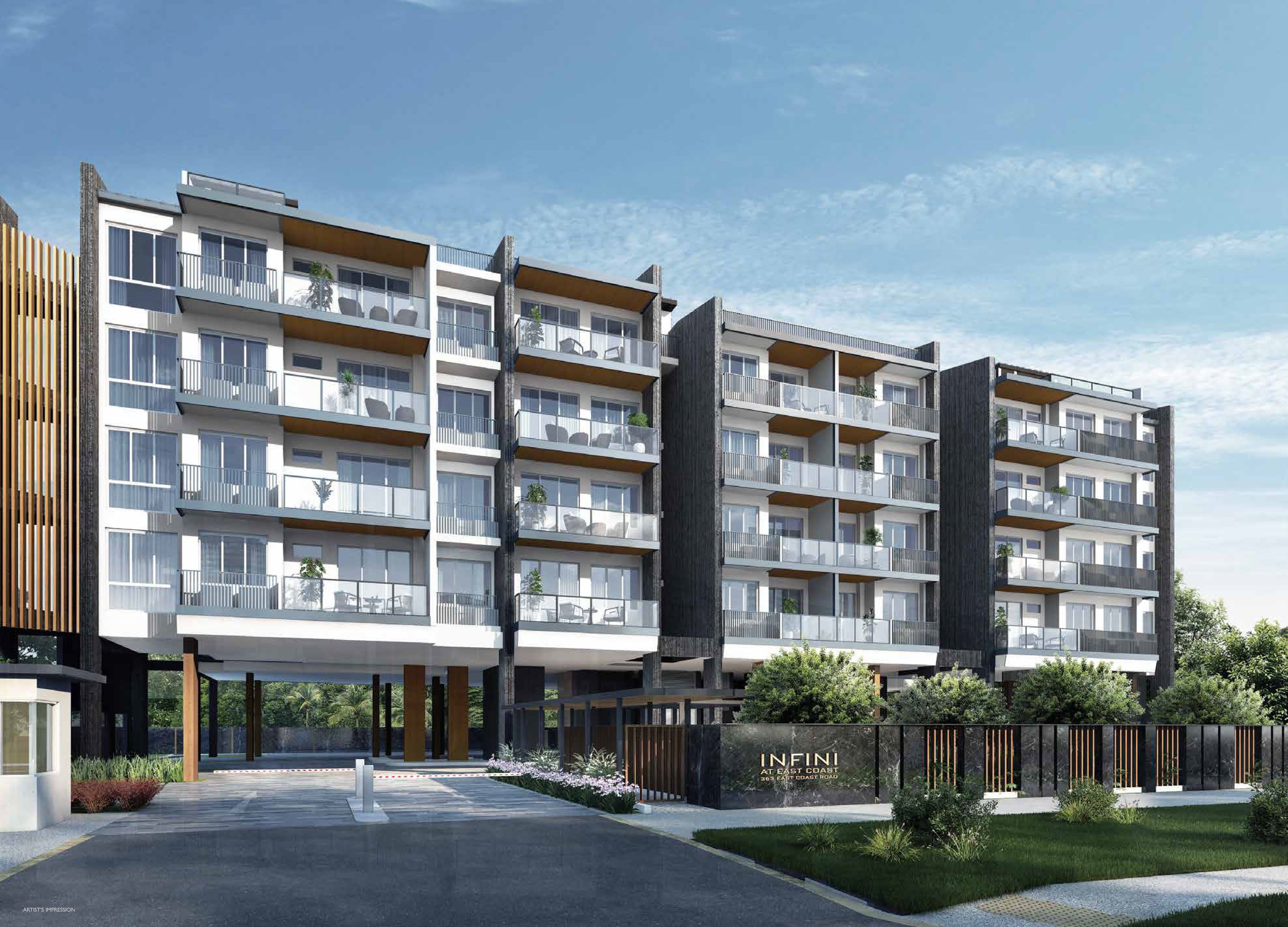 An artists' impression of Infini at East Coast