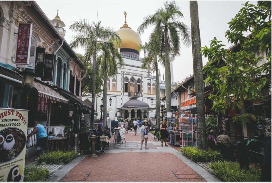 Masjid Sultan (Sultan Mosque) located at Kampong Glam, a popular tourist attraction in Singapore