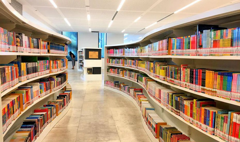 Tampines Regional Library book collection