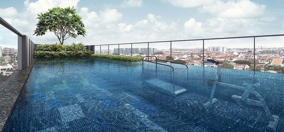 Parkwood Residences' pool also features an aqua gym.