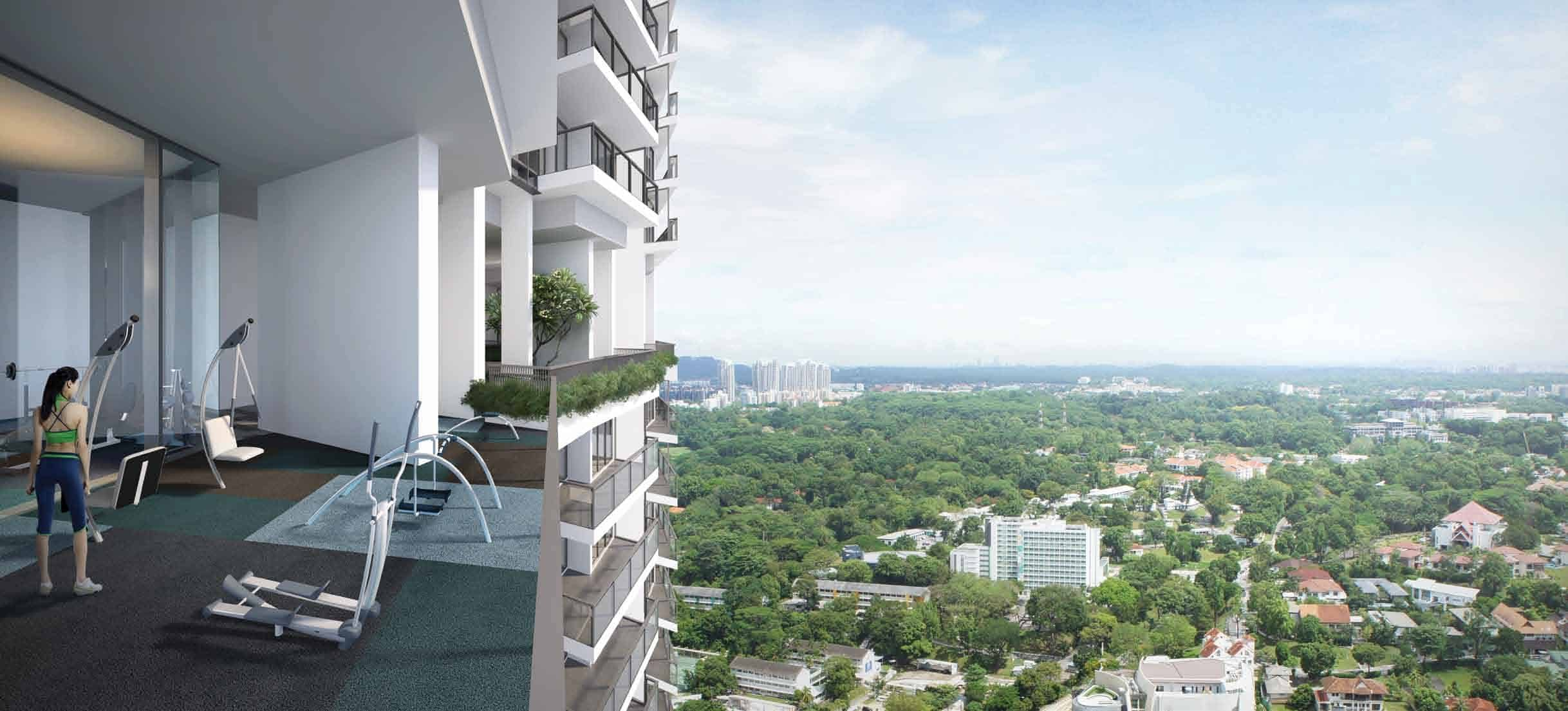 Rooms and exercise with a view from Artra at Alexandra view