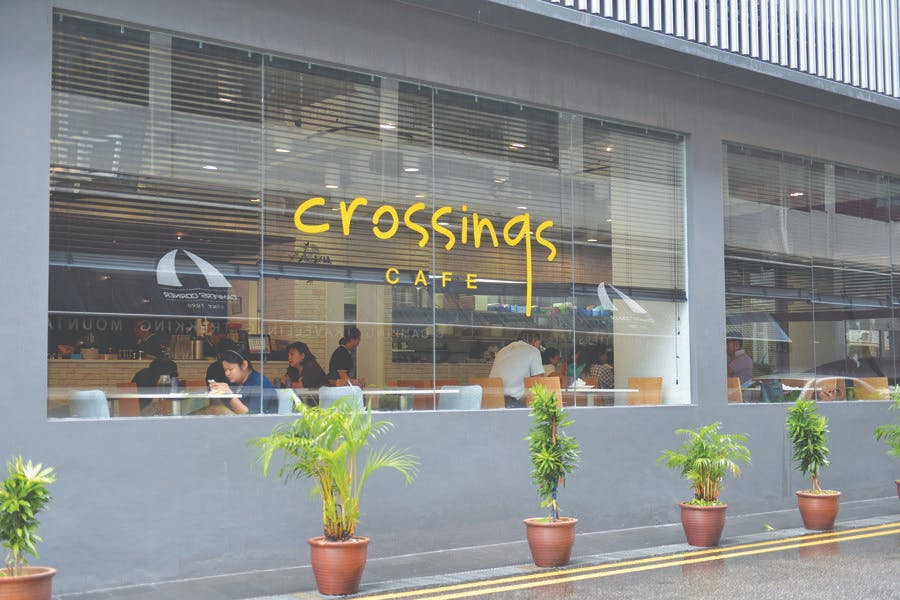 Crossings Cafe at Kallang.