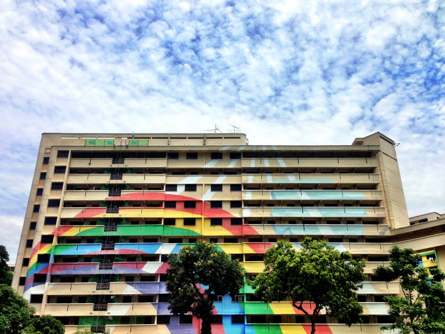 Defining rainbow at Hougang New Town.