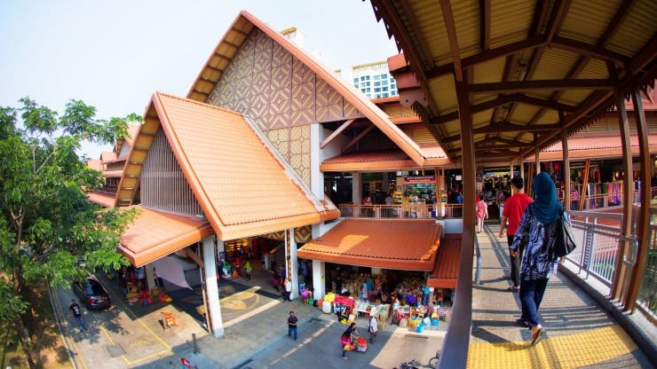 Geylang Serai market, close to Rezi 35, is home to a wet market, clothing stores, and a massive food hawker all-in-one.