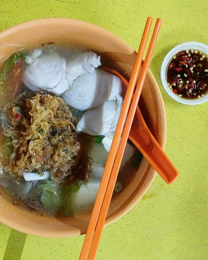 Fishball Mee at Tuas Village Eating House
