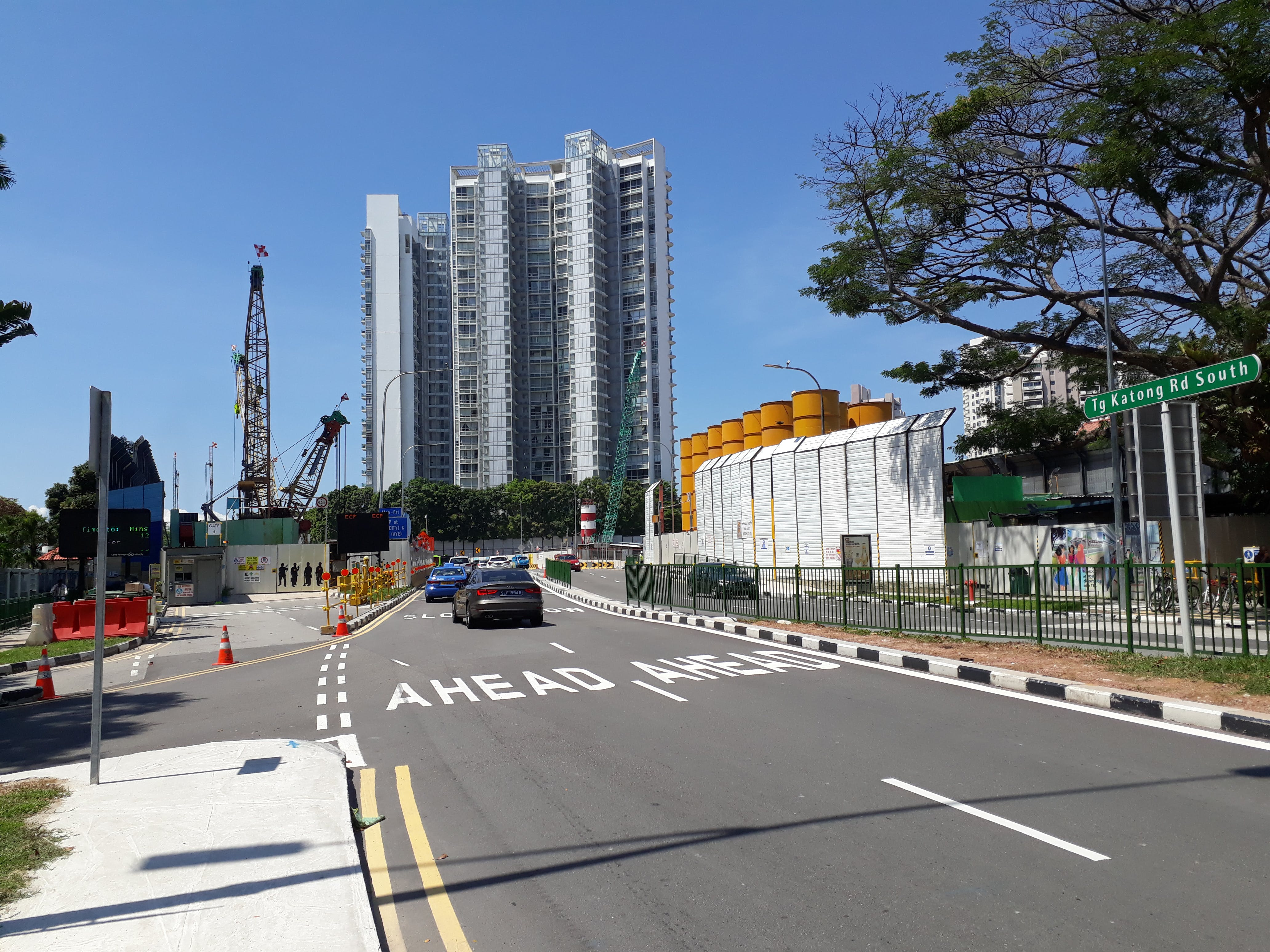 Construction Site of the upcoming Tanjong Katong MRT