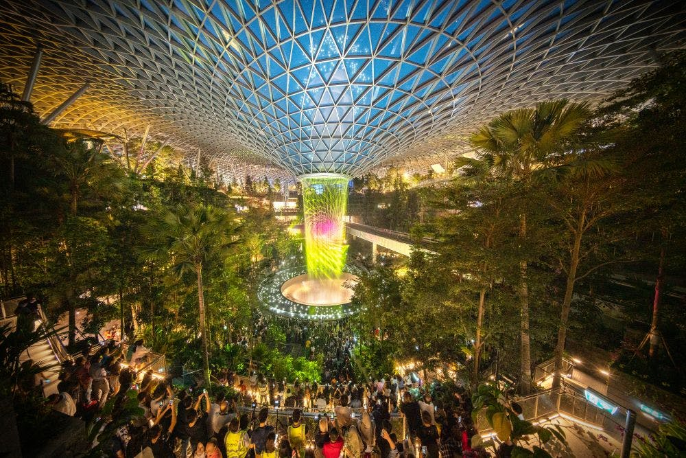 Jewel at Changi's crowning jewels, just a 17-minute ride away from TEDGE condo.