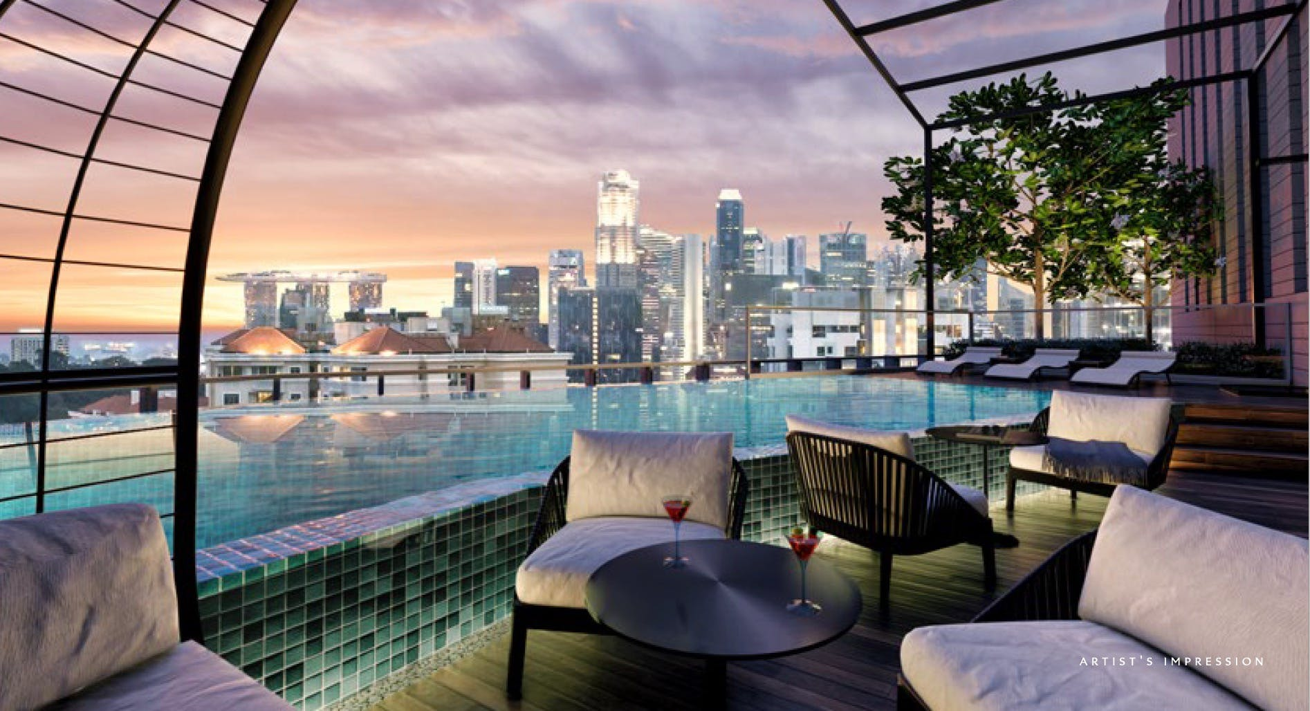 An awe-inspiring view from The Iveria's infinity pool.