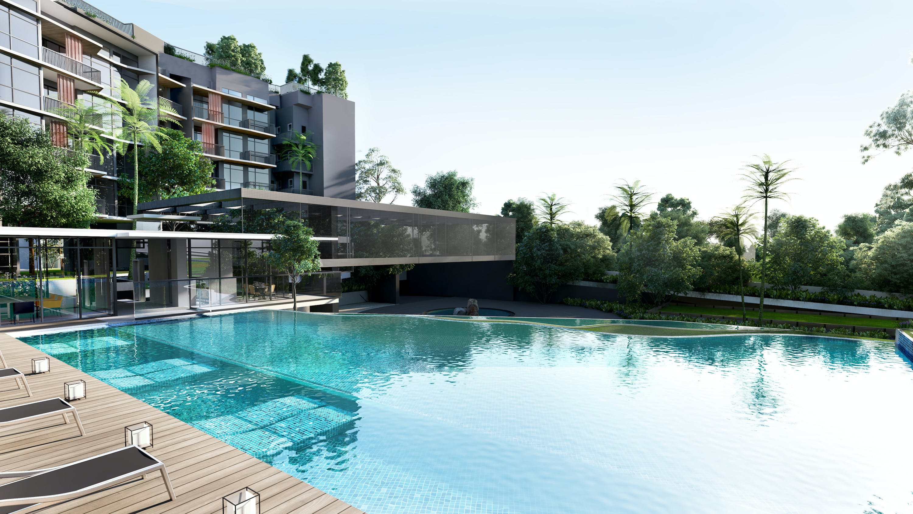 Sparkling 50m swimming pool