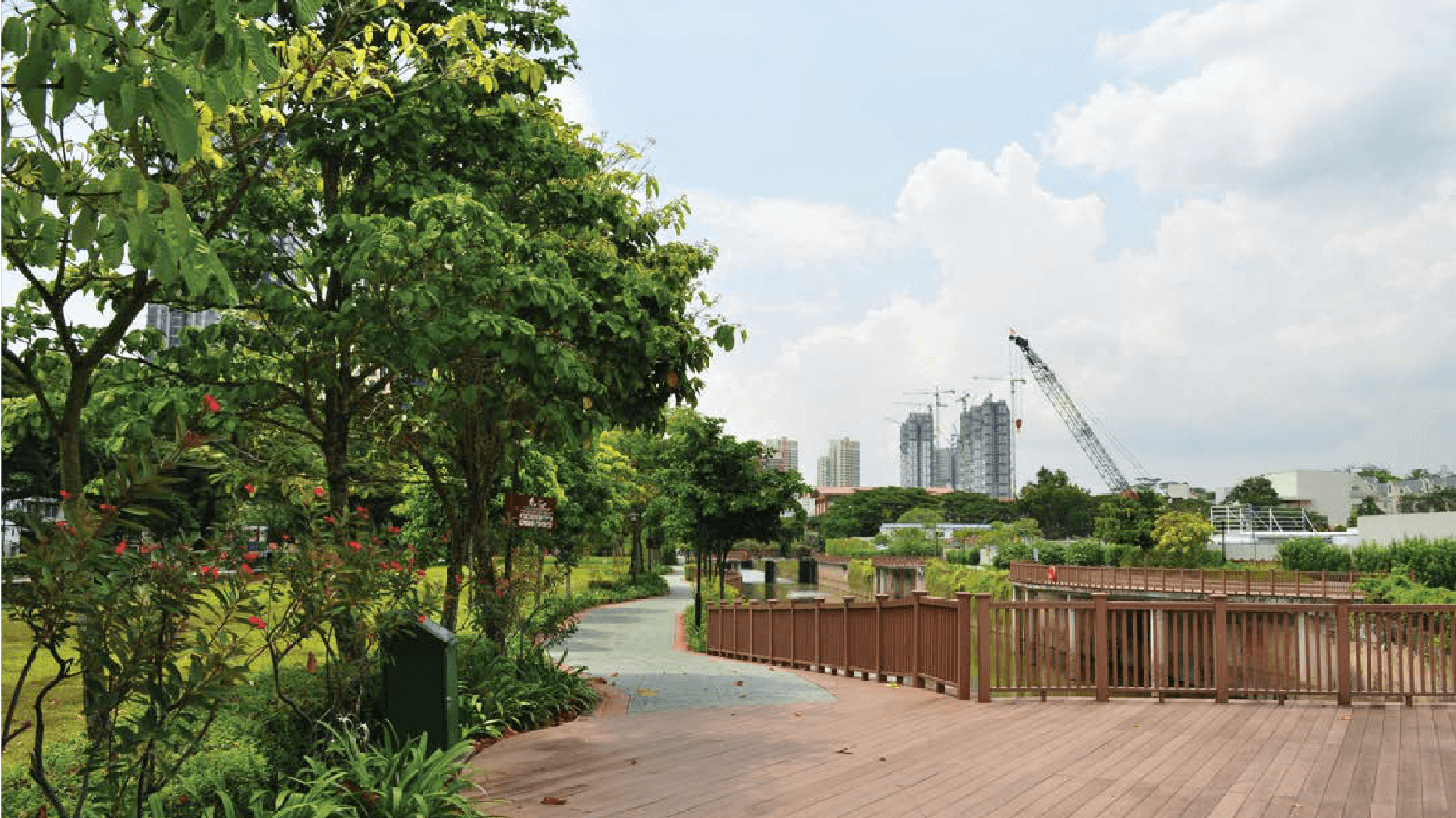 The park connector near The Crest can take you to Singapore's most beautiful spots.