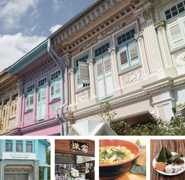 The best food that Singapore has to offer is sometimes specific to the east, particularly in areas such as Joo Chiat, Geylang Serai, and Katong, all close to Urban Treasures.