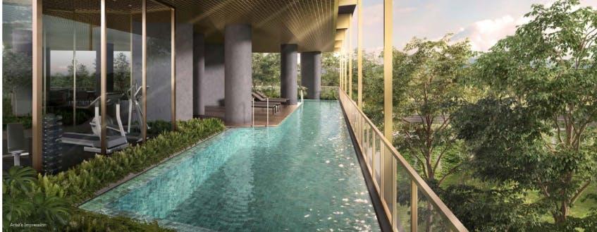 The lush sparkling pool awaits