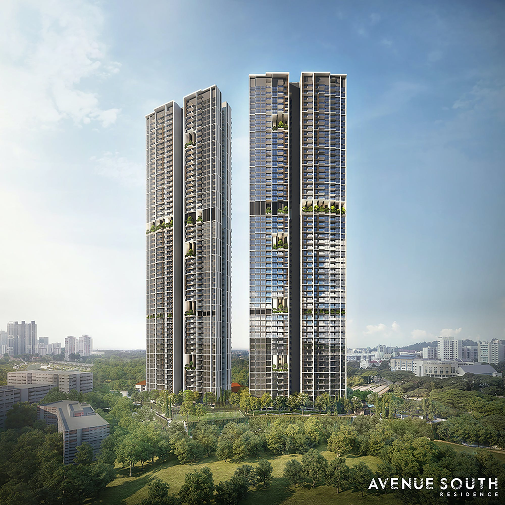 Artists' impression of Avenue South Residence