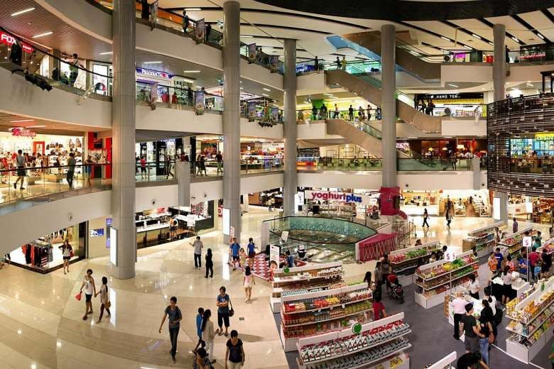 Shoppers at Causeway Point