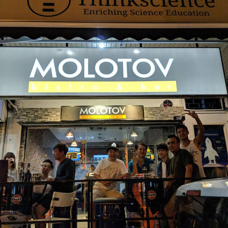 Spend your nights at Molotov Bar watching a game of football over some drinks