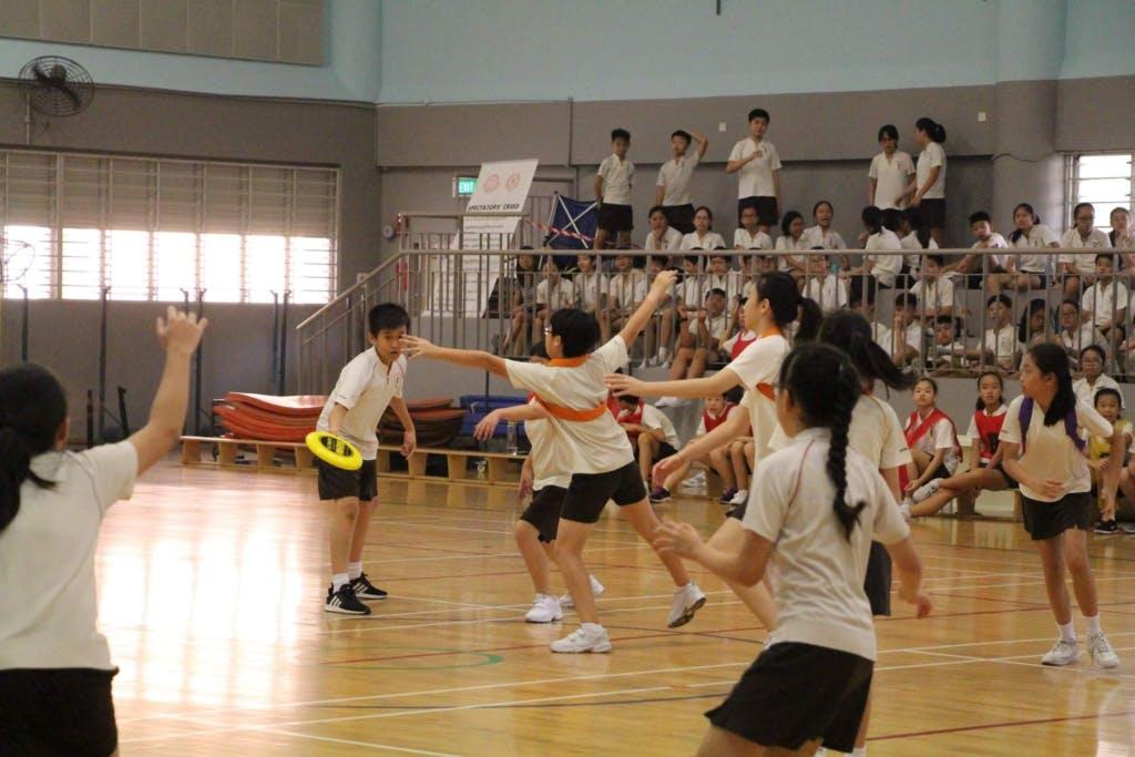 Sports activity at Hong Wen School