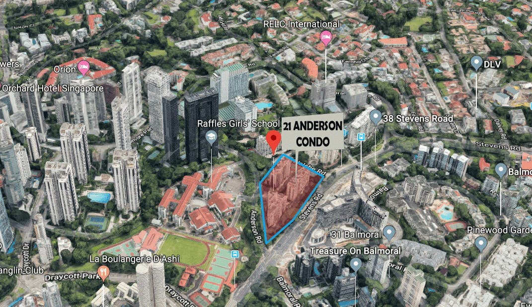 21 Anderson sits atop a prime and highly coveted land, and is within close proximity to major shopping district, Orchard Road.