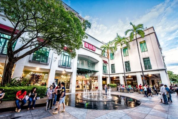 BHG at Bugis Junction is one of the many shopping avenues available to residents at The M.