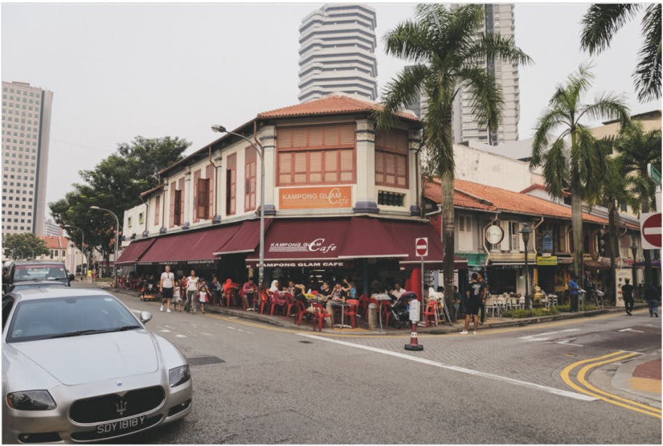 Kampong Glam Cafe, where you can have a teh-tarik and soak in the atmosphere of Kampong Glam