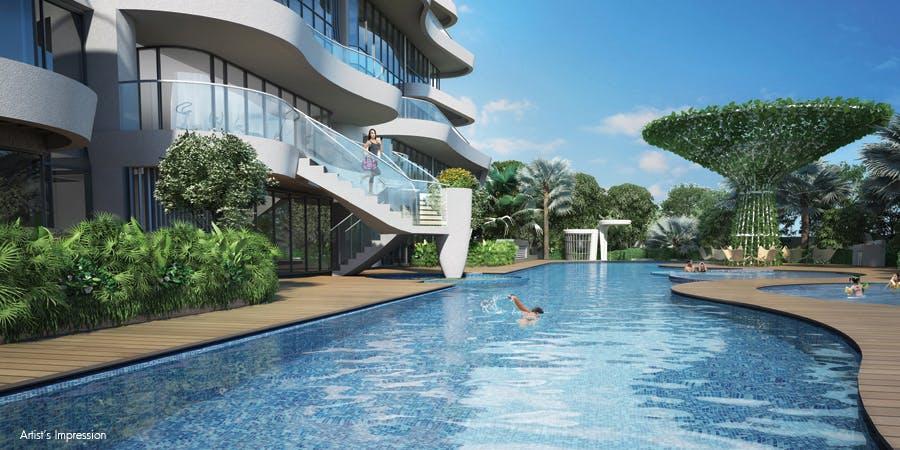48-metre lap pool